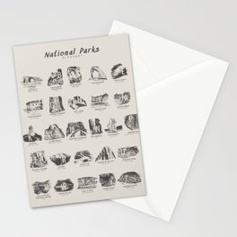 National Parks Alphabet Stationery Cards