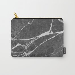 Matte Black Marble Carry-All Pouch