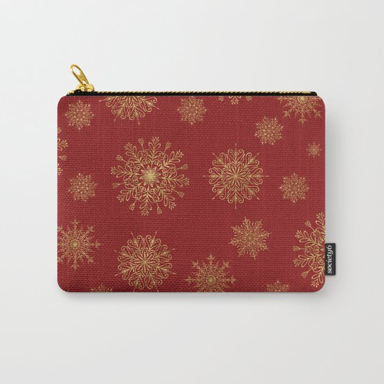 Assorted Golden Snowflakes Carry-All Pouch