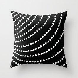 White Vortex Throw Pillow
