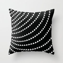 White Vortex Throw Pillow