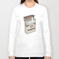 instagram Long Sleeve T-shirts featuring Instagram #unfiltered by Sneaker Pie
