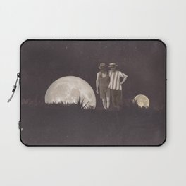 Moon on a meadow vintage 1920s Laptop Sleeve