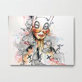 Bunny Gruff Metal Print