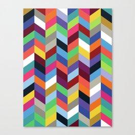 Chevronica Series: Soirée Canvas Print