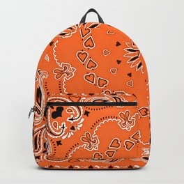 Orange oriental design Backpack