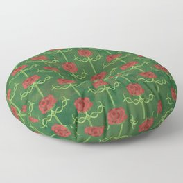 Spring Roses Pattern Floor Pillow