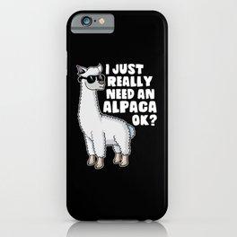 Funny Llama Alpaca Allpaka Saying Gift iPhone Case