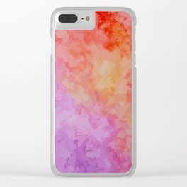 Soft Watercolor Clear iPhone Case