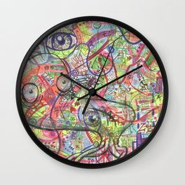 Basura Cerebro Wall Clock