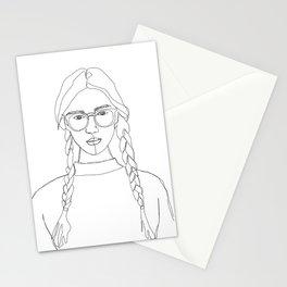 Fashion illustration drawing - Calla Stationery Cards