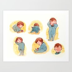 Baby Boy Blue Art Print