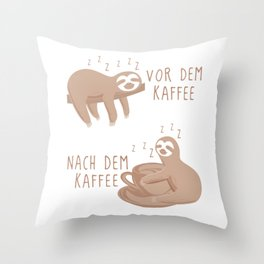 Before coffee - After coffee Faul Throw Pillow