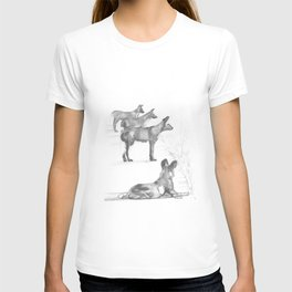 Wild Dogs in a row T-shirt