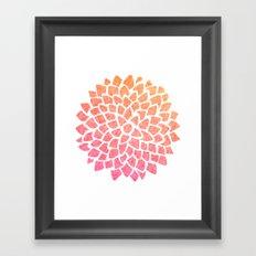 Coral Sea Glass Dahlia Framed Art Print