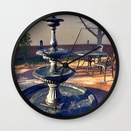 Fairytale Village Fountain Wall Clock