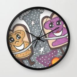 PB & J in space Wall Clock