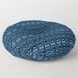 Dividers 07 in Blue over Black Floor Pillow