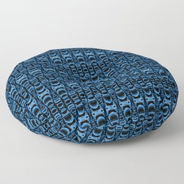 Dividers 07 in Blue over Black Floor Pillow