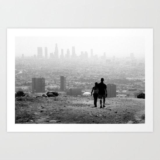 Distant City Art Print