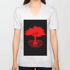 Heart Tree - Red Unisex V-Neck
