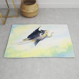 Flying Together 2 - Great Blue Heron Rug