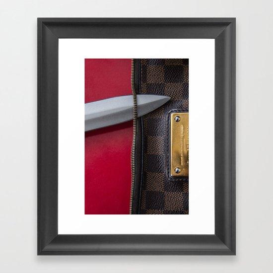 SLASHER Framed Art Print