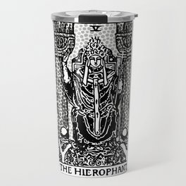 Modern Tarot Design - 5 The Hierophant Travel Mug