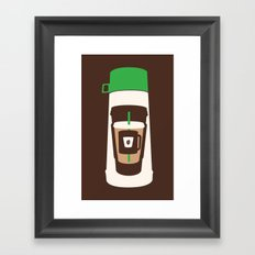 The Coffee Stacker Framed Art Print