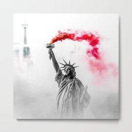 Liberty Smoke Metal Print
