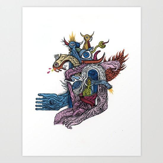 New god makina - Print available!! Art Print