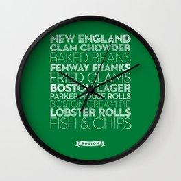 Boston — Delicious City Prints Wall Clock
