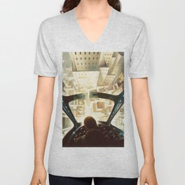 Nose Dive Into the City by T. Crali Unisex V-Neck