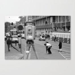 Man at Work Canvas Print