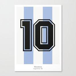 Maradona 10 Canvas Print