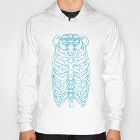 skeleton Hoodies featuring Skeleton by Robbie Drew Dixon