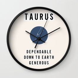 Horoscope Square: Taurus Wall Clock