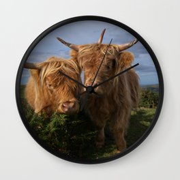 Highland Cows Wall Clock