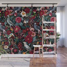 FLORAL AND BIRDS XX Wall Mural