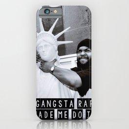 GANGSTA RAP iPhone Case