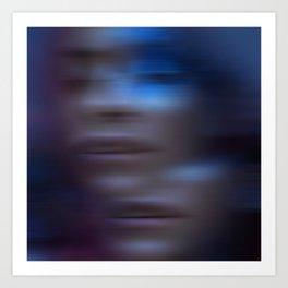 Ultra Violet Motion Art Print