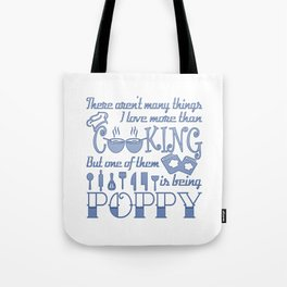 Cooking Poppy Tote Bag