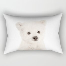 Baby Polar Bear Portrait Rectangular Pillow