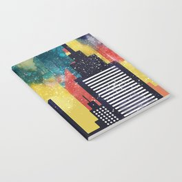 New York City Skyscrapers In Watercolor Art, New York Poster, Wall Art Home Decor, City Skyline Art Notebook