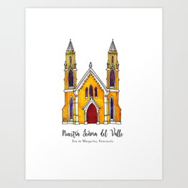 Basilica de Nuestra Senora del Valle Art Print