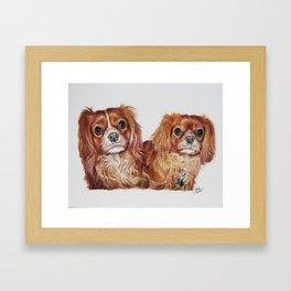 Cavalier King Charles Spaniels Art Print Framed Art Print