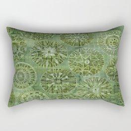 Mosaic Flowers Rectangular Pillow