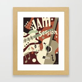 Guitar Music abstract Framed Art Print