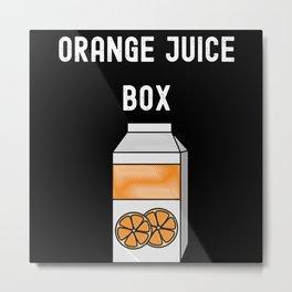 Orange Juice Box Metal Print