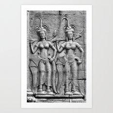 Cambodian Fertility Goddesses Art Print